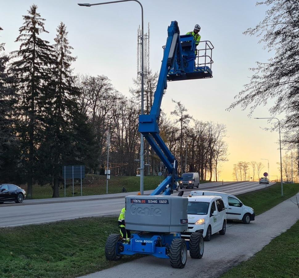 Straßenbeleuchtungsbau
